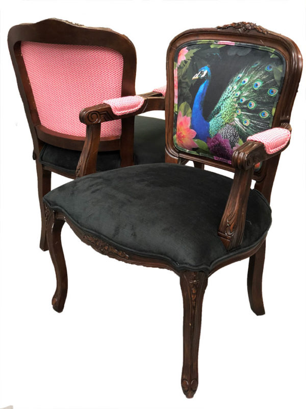 Black Peacock French Chair